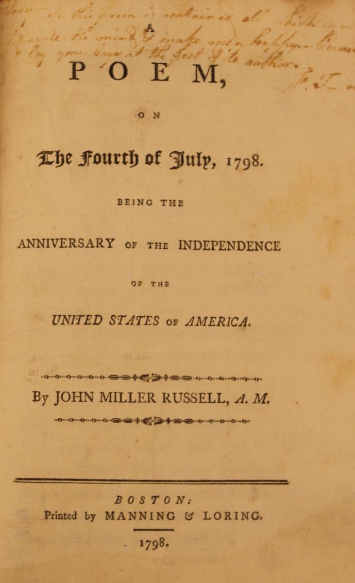 Fourth of July Poem, 1798